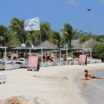 Gezellige cabana beach curacao