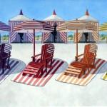 Cabana beach strandstoelen in curacao