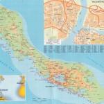 Kaart van curacao