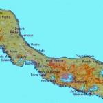 Eiland kaart van curacao