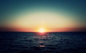 Ondergaande zon curacao
